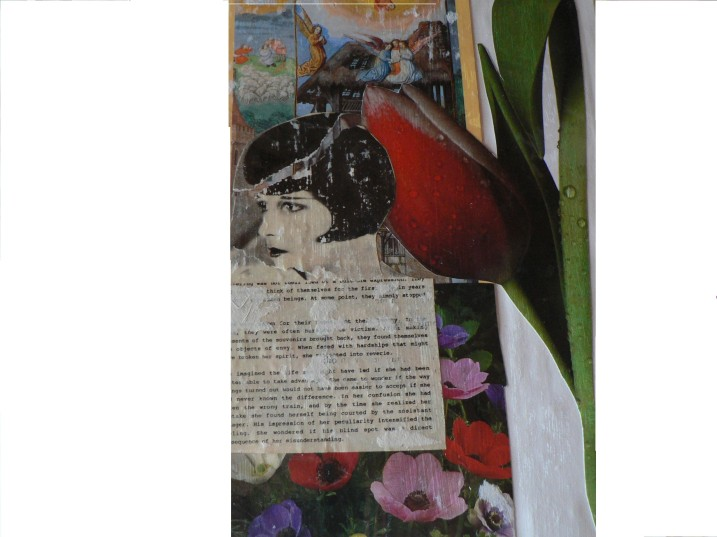 Louisde Books Collage With Short Story and Flowers