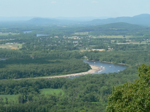 mountains and oxbow. River and Holyoke range
